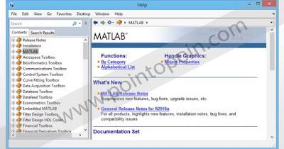 Jendela Help Browser pada MATLAB