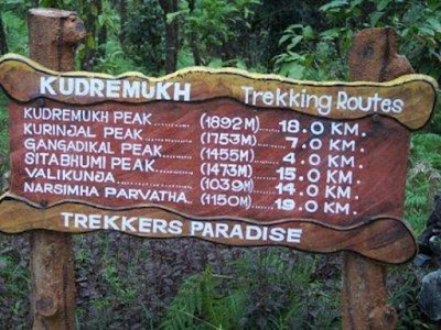 Route for Kudremukh trek