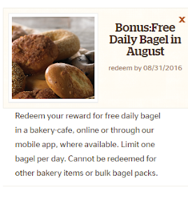 Free Bagels each Day in August From Panera