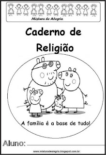 Capa caderno para religião