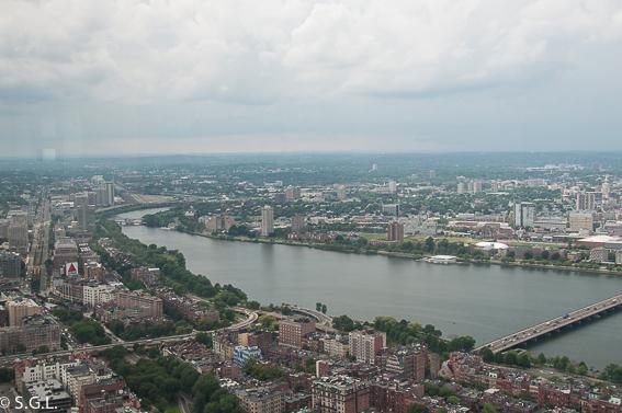 Rio Charles de Boston desde Torre Prudential