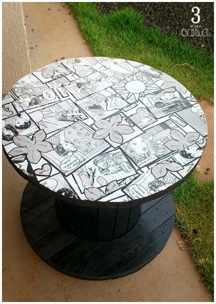 como fazer mesa carretel