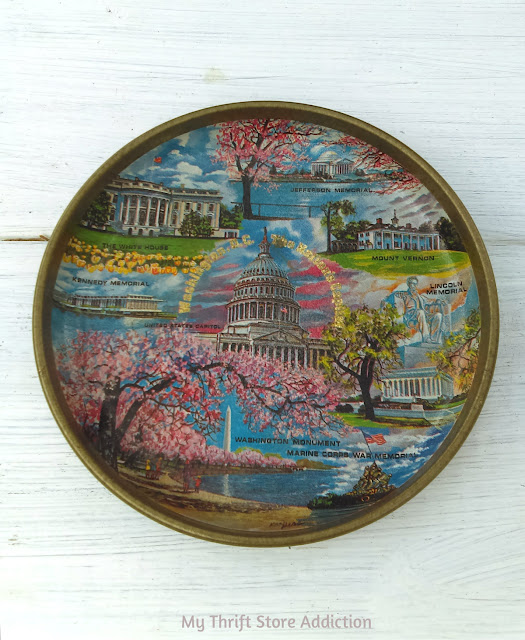 Washington DC state souvenir tray
