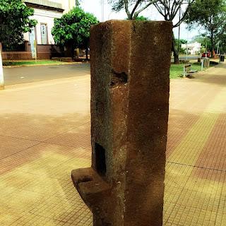 Antiga coluna da redução de Concépcion.