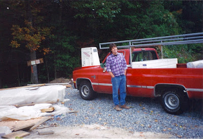 Red Chevrolet pickup truck