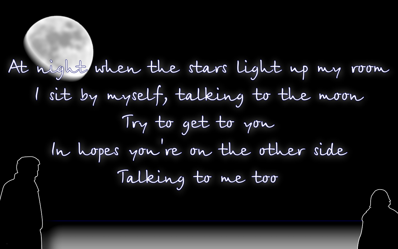 Text Image Quotes: Song Lyric Quotes In Text Image: Talking To The Moon