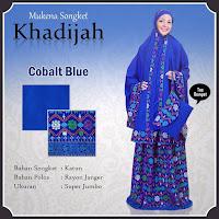 Mukena Bali khadijah songket Biru
