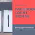 Facebook Welcome Login Sign In