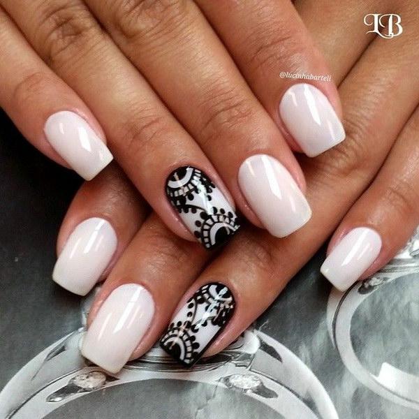 white nail designs 2017