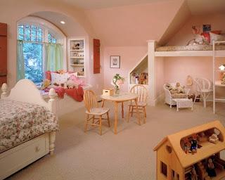 diseño dormitorio rosa niña