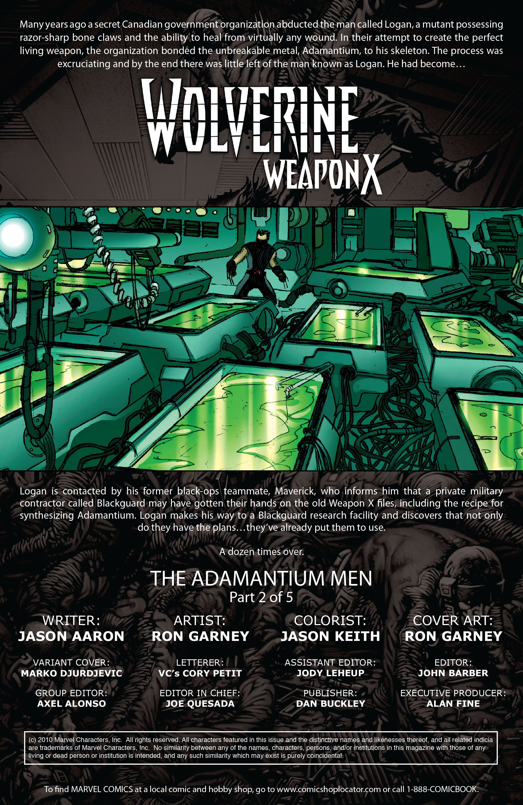 Read online Wolverine: Weapon X comic -  Issue #2 - 2
