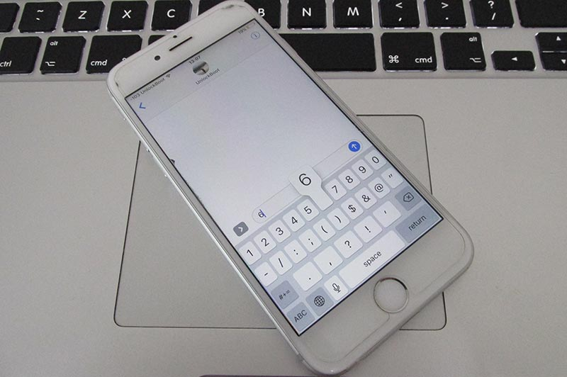 type quickly on iphone