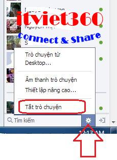 Khung chat Facebook, an nick Facebook với tất cả mọi người, cách ẩn nick FB