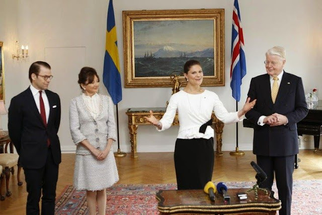Crown Princess Victoria and Prince Daniel began their two-day official visit to Iceland.