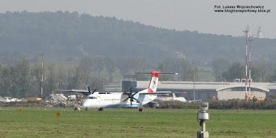 Bombardier Dash 8 Q400 (De Havilland Canada DHC-8-402Q Dash 8), OE-LGB, Austrian Airlines, Kraków Airport