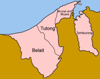 Peta Distrik Brunei Darussalam