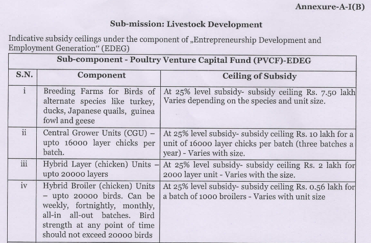 NABARD POULTRY LOAN Subsidy-Poultry Venture Capital Fund
