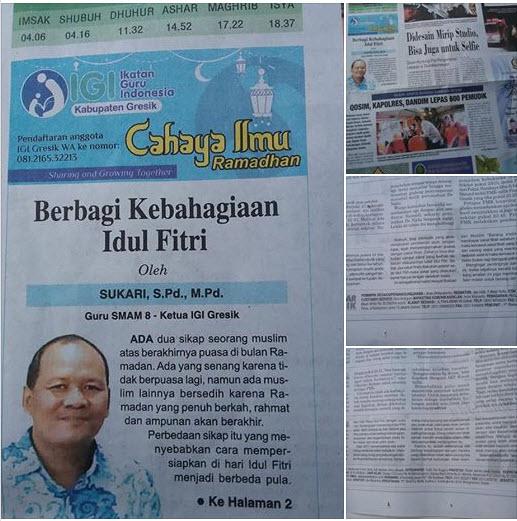 Tulisan ketua IGI Gresik di Program Cahaya Ilmu Ramadhan
