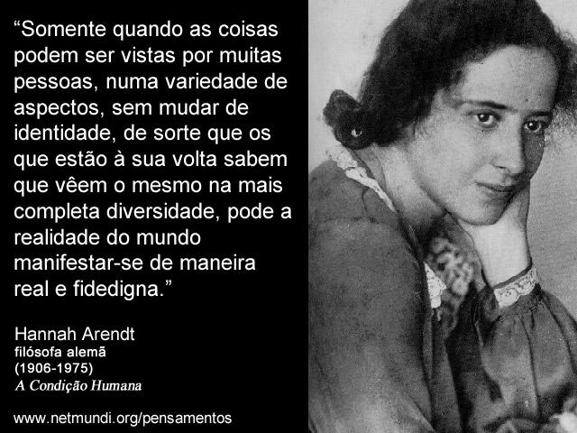 Jornal O Rebate Hannah Arendt A Dignidade E A Coragem De Uma