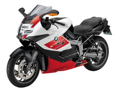 BMW super bike K1300 S red and white color  image