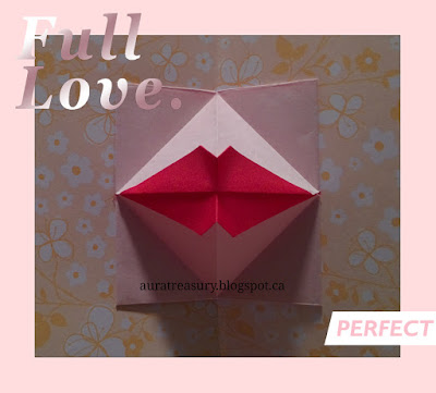 origami kiss pop-up card