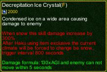 naruto castle defense 6.0 Decrepitation Ice Crystal detail