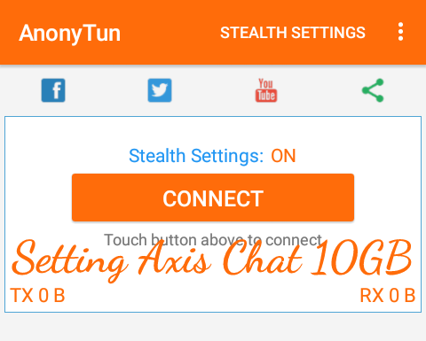 Cara Setting/Mengubah Kuota Chat 10GB Axis Menjadi Reguler Dengan Anonytun