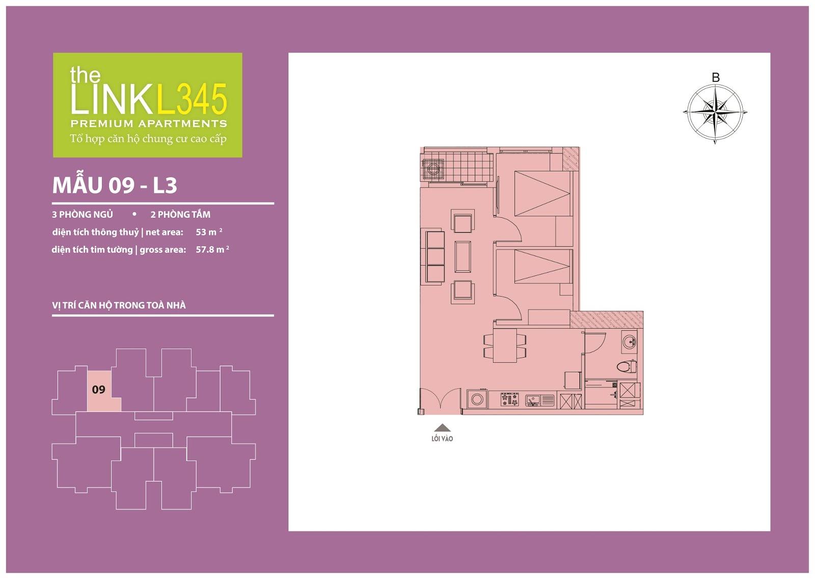 Mặt bằng chi tiết căn hộ 09 - L3 The Link