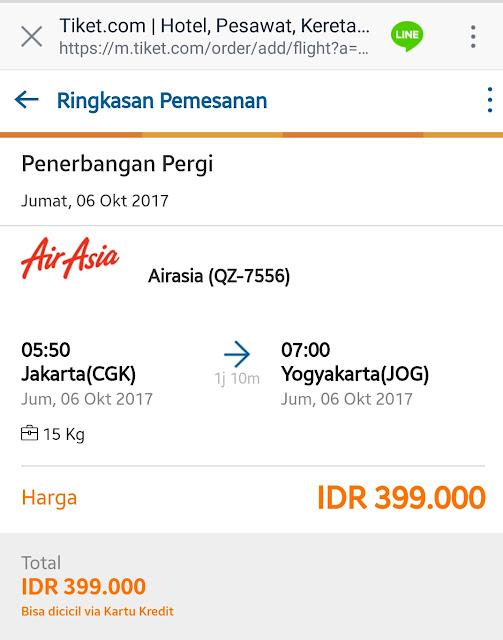 Pesan tiket pesawat pake Bang Joni Line Messenger