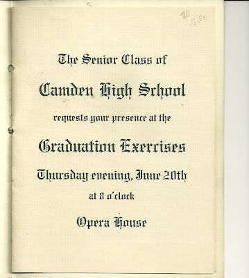 The Senior Class of Camden High School requests your presence at the ...