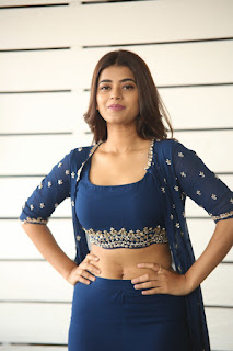 Yamini Bhaskar in dark blue sleevless Choli and Plazzo Amazing Beauty