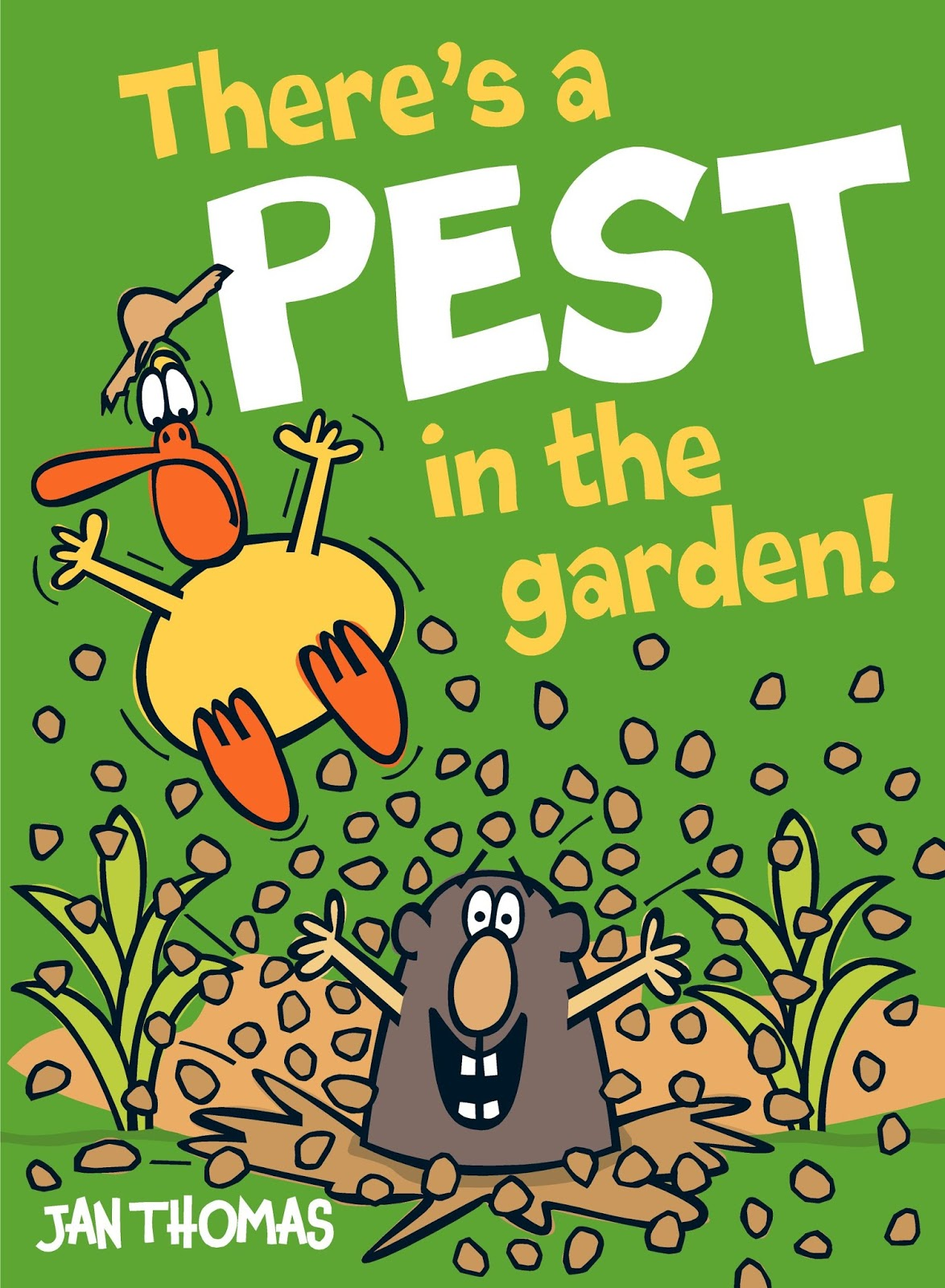 Jan Thomasu0027s Favorite Characters From A Birthday For Cow, The Doghouse, And  More Are Back In A Beginning Reader Format With Thereu0027s A Pest In The Garden  ...