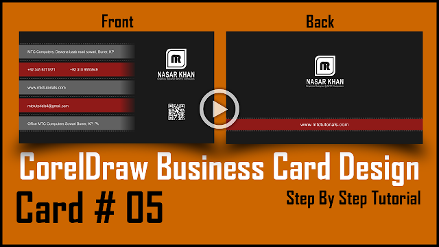 Mtc tutorials how to make a beautiful business card in coreldraw download this card for free reheart Image collections