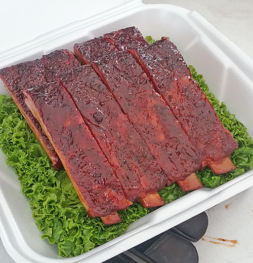 Cheshire Heritage pork ribs Smokin' In McMinnville BBQ competition 2016