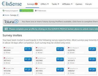Panel de encuestas ClixSense