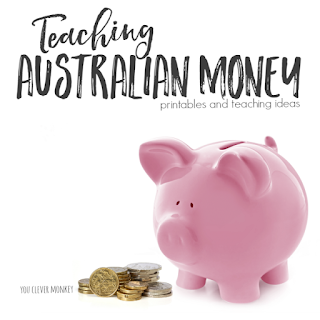 Ready to print resources and ideas for teaching Australian money to young children | you clever monkey