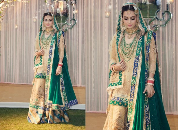 The Lovely Looked A Million Bucks In Their Traditional Attires Dia Picked Ritu Ar S Lehenga For Her Wedding Here Are Some Pictures