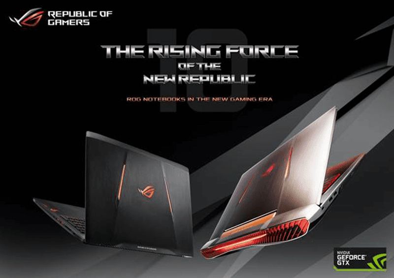 Asus Launches Two GTX 10-Series Powered ROG Notebooks In PH, Price Starts At 149995 Pesos!