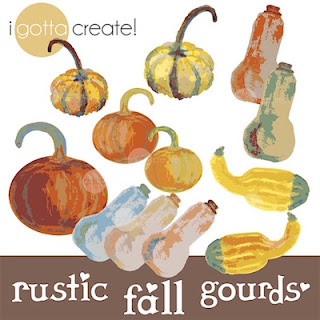 Pumpkin, Squash and Gourds digital clip art by I Gotta Create!