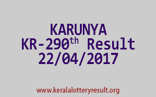 KARUNYA Lottery KR 290 Results 22-4-2017