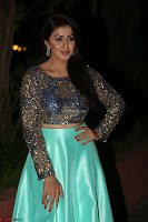 Nikki Galrani in Green Skirt  Top at Marakathamani music launch ~  Exclusive (17).JPG