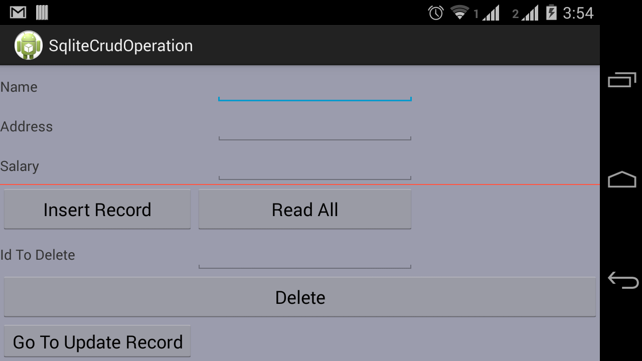 Android Developers Blog: Android SQLite Crud Operations