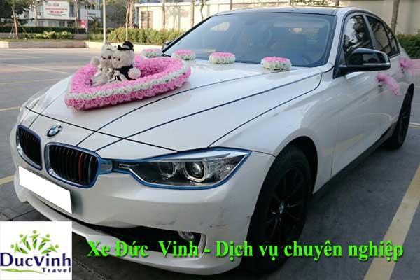 Cho thuê xe cưới màu trắng BMW 320i hạng sang