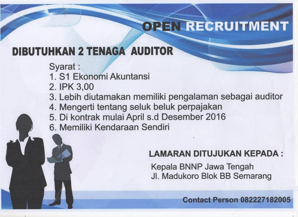 Lowongan Kerja Auditor BNNP Jawa Tengah