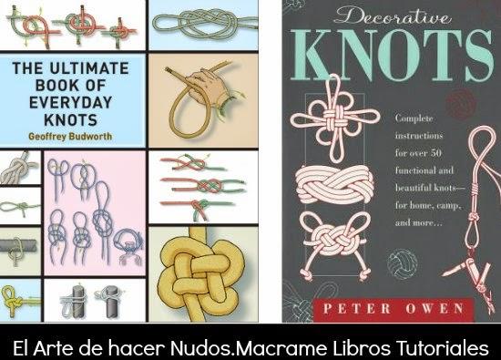 libros, nudos, macrame, publicaciones, manualidades, tutoriales