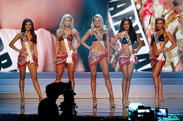 "Participants of the beauty contest ""Miss USA 2015"""
