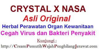 AGEN Jual CRYSTAL X Asli Original NASA untuk kesehatan kewanitaan