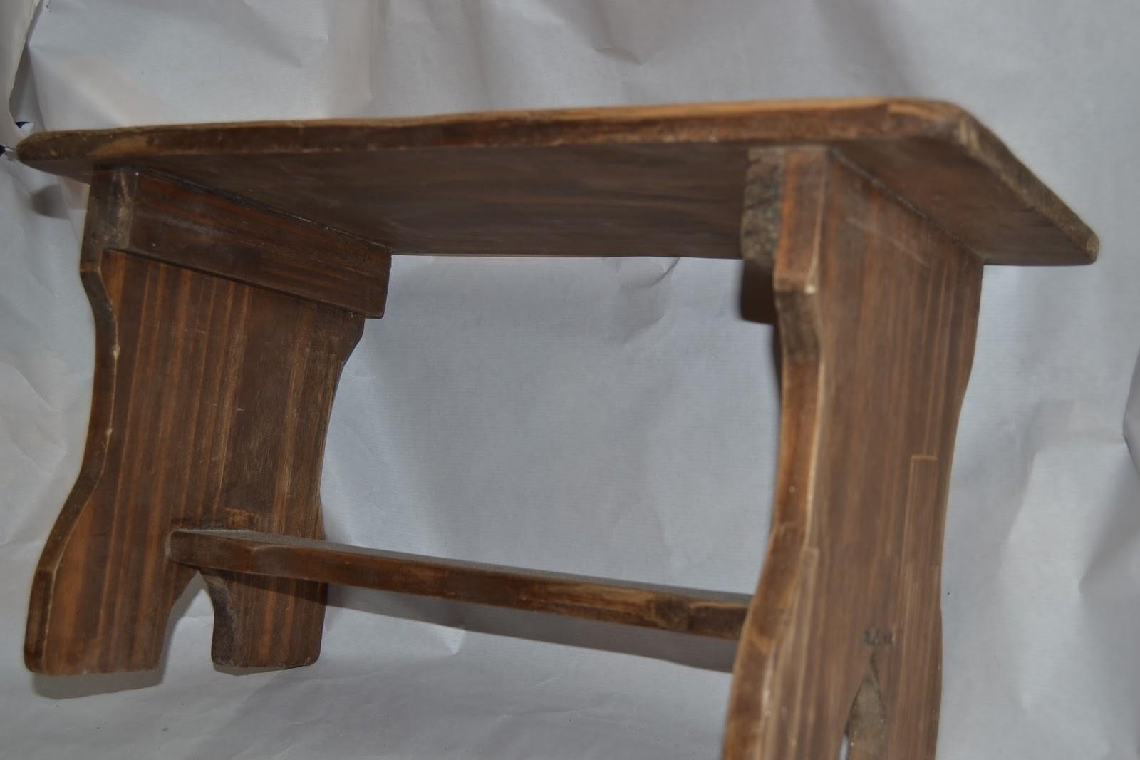 Artesan a r stica en madera banco de madera r stico bajo - Bancos de madera rusticos ...