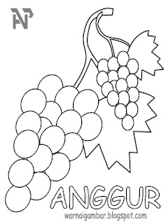 Mewarnai Anggur 1 Mewarnai Gambar