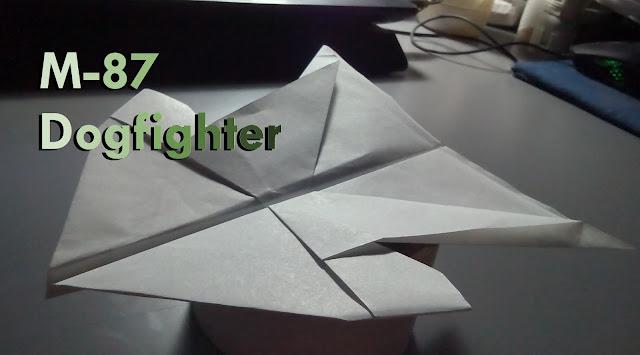 Avión de papel M-87 DogFighter